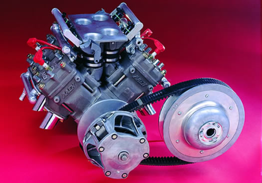 Aaen Performance : V-4 Two Stroke Racing Engine